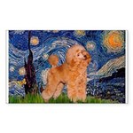 Starry / Poodle (Apricot) Sticker (Rectangle)