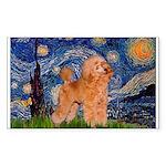 Starry / Poodle (Apricot) Sticker (Rectangle 50 pk