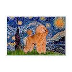Starry / Poodle (Apricot) Mini Poster Print