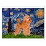 Starry / Poodle (Apricot) Small Poster