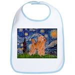 Starry / Poodle (Apricot) Bib