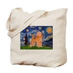 Starry / Poodle (Apricot) Tote Bag