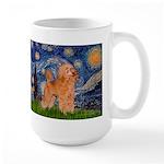 Starry / Poodle (Apricot) Large Mug