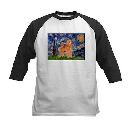 Starry / Poodle (Apricot) Kids Baseball Jersey