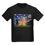 Starry / Poodle (Apricot) Kids Dark T-Shirt