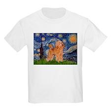 Starry / Poodle (Apricot) T-Shirt