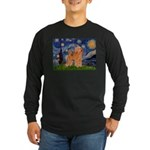 Starry / Poodle (Apricot) Long Sleeve Dark T-Shirt