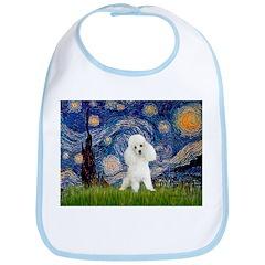 Starry / Poodle (White) Bib