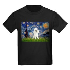 Starry / Poodle (White) Kids Dark T-Shirt