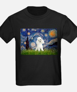 Starry / Poodle (White) T