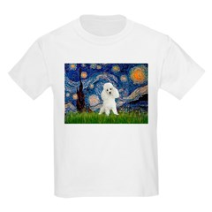 Starry / Poodle (White) Kids Light T-Shirt