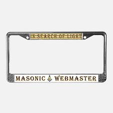 Masonic Webmaster License Plate Frame