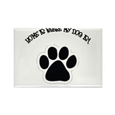 Home Is Where My Dog Is! Rectangle Magnet