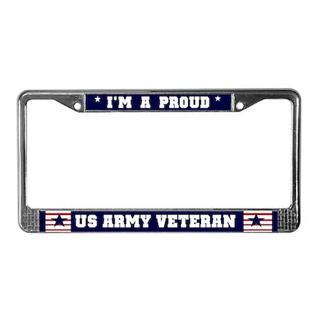 Proud US Army Veteran License Plate Frame