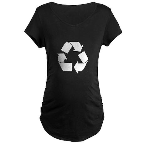 Recycle Logo on Green T-Shirt Maternity Dark T-Shi