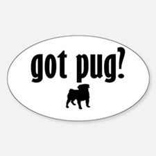 Got Pug? (1) Oval Decal
