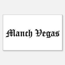 manch vegas - Rectangle Bumper Stickers