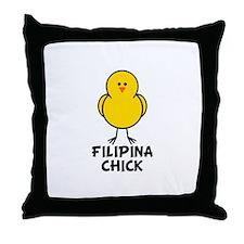 Filipina Chick Throw Pillow