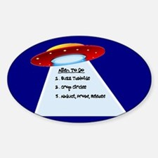 UFO To Do Oval Decal