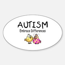 Embrace Difference Oval Decal