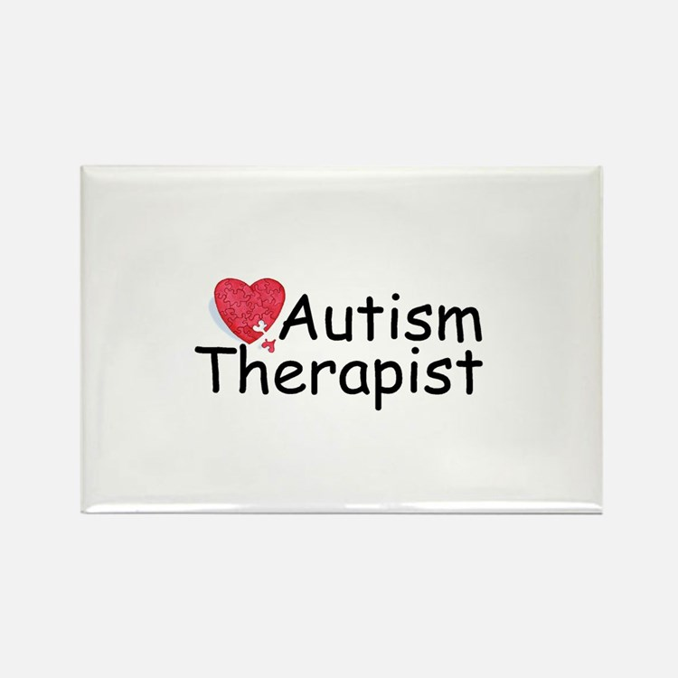 Autism Therapist Rectangle Magnet