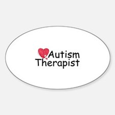 Autism Therapist Oval Decal
