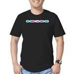 Trans Morse Bar Men's Fitted T-Shirt (dark)