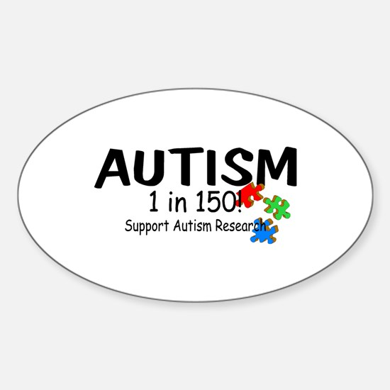 1 in 150 (Support Research) Oval Decal