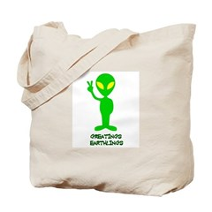 Greetings Earthlings Tote Bag