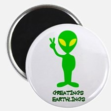 Greetings Earthlings Magnet
