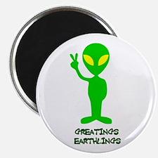 Greetings Earthlings Magnet