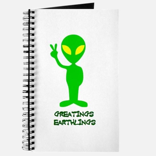 Greetings Earthlings Journal