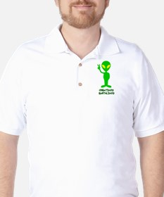 Greetings Earthlings Golf Shirt