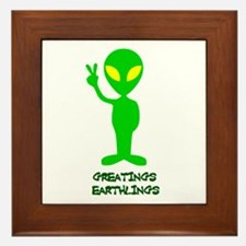 Greetings Earthlings Framed Tile