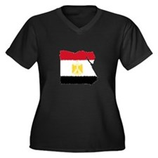 Vintage Egypt Women's Plus Size V-Neck Dark T-Shir