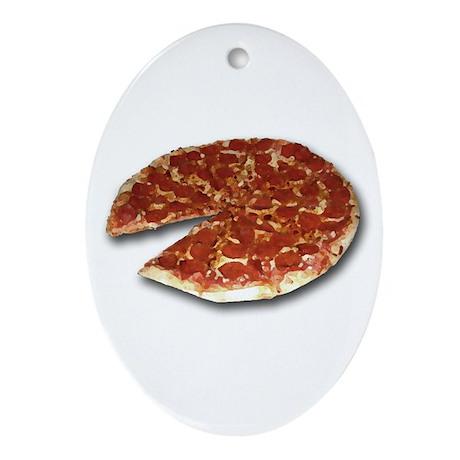 Pizza Oval Ornament