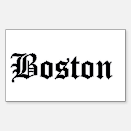 boston - Rectangle Bumper Stickers