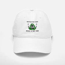 RECYCLE-HOT ROD Baseball Baseball Cap