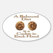 A Balanced Diet . . . Oval Decal