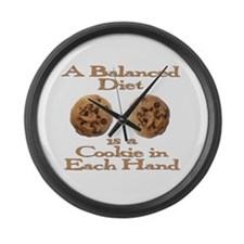 A Balanced Diet . . . Large Wall Clock