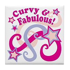 Curvaceous & Fabulous Tile Coaster