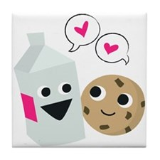 Milk & Cookie Tile Coaster