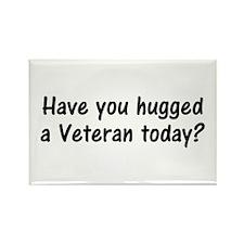 Hug A Veteran Gifts Rectangle Magnet