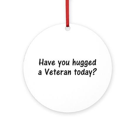 Hug A Veteran Gifts Ornament (Round)