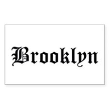 brooklyn - Rectangle Bumper Stickers