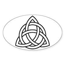 Triquetra Oval Sticker (10 pk)