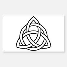 Triquetra Rectangle Bumper Stickers