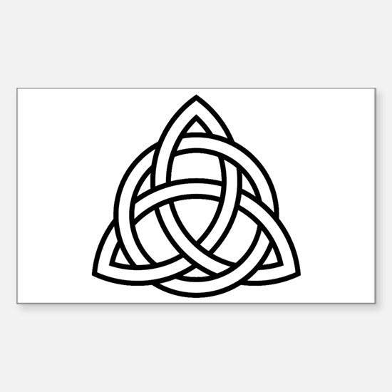Triquetra Rectangle Bumper Stickers
