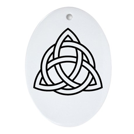 Triquetra Oval Ornament