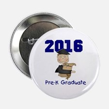 "2016 Boy Pre-K Grad 2.25"" Button (10 pack)"